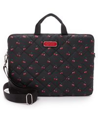 "Marc By Marc Jacobs - Crosby Quilted Nylon Fruit 15"" Computer Commuter Bag - Cherry Print - Lyst"