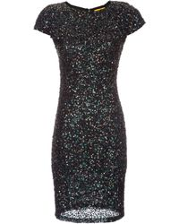 Alice + Olivia Taryn Sequin Fitted Dress - Lyst