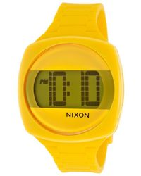 Nixon Womens Dash Digital Yellow Silicone and Dial - Lyst
