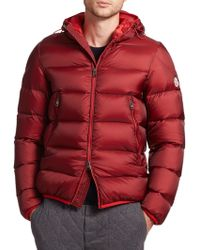 Moncler Chauvon Hooded Down Jacket red - Lyst