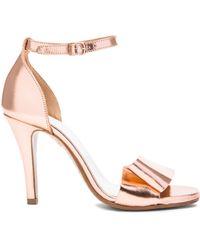 Maison Margiela Laminated Leather Heels - Lyst