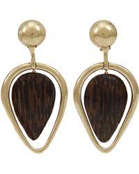 Vaubel - Wooden Drop Leaf Clip Earrings - Lyst