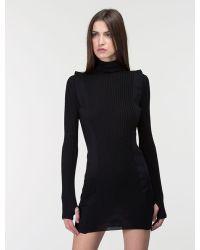 Costume National Turtleneck Slim Dress - Lyst