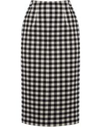 Oasis Gingham Pencil Skirt multicolor - Lyst
