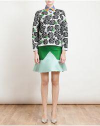 Ostwald Helgason - Fine Wool Floral Jacquard Knit Jumper - Lyst