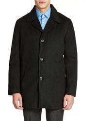 Calvin Klein Wool Cashmere Blend Overcoat black - Lyst