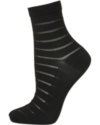 Topshop Sheer Stripe Ankle Socks - Lyst