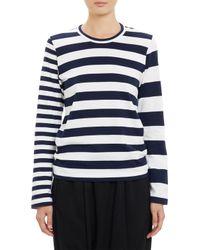 Comme Des Garçons Mixed Stripe Long Sleeve T-Shirt - Lyst