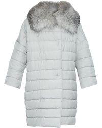 Max Mara Tapioca Coat gray - Lyst