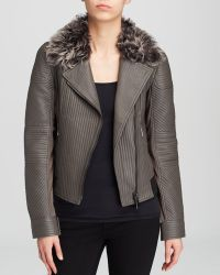 Elie Tahari Mae Quilted Leather Jacket - Lyst