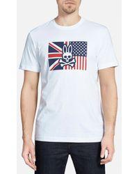 Psycho Bunny 'Flag Bunny' Graphic T-Shirt - Lyst