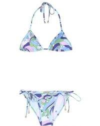 Emilio Pucci Printed Triangle Bikini - Lyst