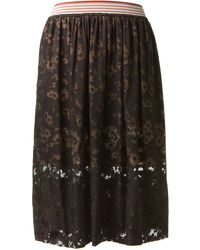 Stella McCartney Black Flowing Silkblend Skirt - Lyst