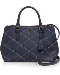 Tory Burch Tote - Robinson Stitched Mini Double-Zip - Lyst