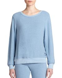 Wildfox Boatneck Sweatshirt blue - Lyst
