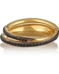 Tom Binns Saturn Goldplated Crystal Ring - Lyst