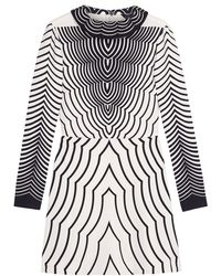 Marc By Marc Jacobs Radio Waves Print Dress - Lyst