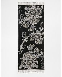 Warehouse - Floral Jacquard Scarf - Lyst