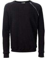 Saint Laurent Crew Neck Sweater - Lyst