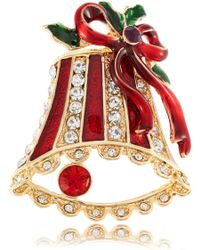 Lord & Taylor - Holiday Bell Brooch - Lyst
