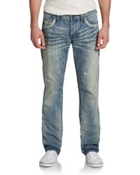 Affliction Ace Quilt V Sector Light Wash Jeansslimfit - Lyst