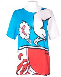 Moschino Cotton Oversize Multicolor T-Shirt - Lyst