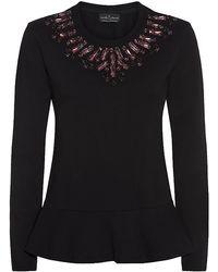Needle & Thread - Jewel Collar Peplum Sweater - Lyst