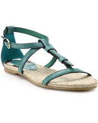 Burberry Westerdale Leather Sandals green - Lyst