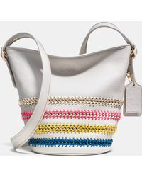 Coach Mini Duffle In Pop Lacing Whiplash Leather - Lyst