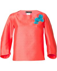 DSquared2 Appliqué Floral Detail Blouse - Lyst