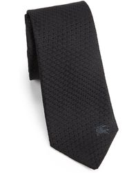 Burberry London Textured Silk Tie - Lyst
