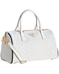 how much prada bag cost - prada black perforated saffiano tote