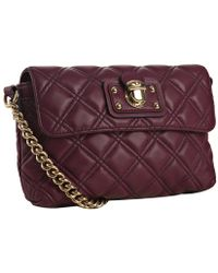 Marc Jacobs Violet Quilted Lambskin The Single Crossbody Bag - Lyst