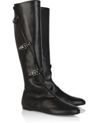 Alexander McQueen Buckle-detail Leather Boots - Lyst