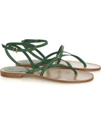 Vanessa Bruno Athé - Studded Leather Flat Sandals - Lyst