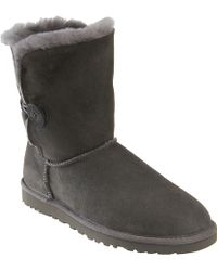 Ugg Grey Bailey Button Boot - Lyst