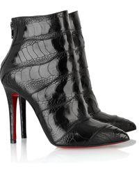 Christian Louboutin Zermadame 120 Ankle Boots black - Lyst