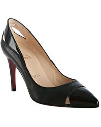 Christian Louboutin Otrot Napa Fringe Red Sole Pump black - Lyst