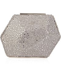 Hervé Léger - Crystal-encrusted Minaudiere Clutch - Lyst