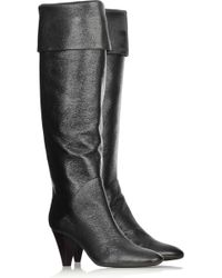 Giuseppe Zanotti Slouchy Leather Boots - Lyst