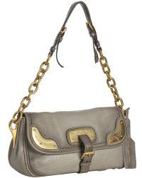 Prada Dove Deerskin Cervo Chain Shoulder Bag - Lyst