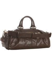 Givenchy Brown Leather Medium Boston Bag - Lyst
