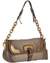 Prada Mink Deerskin Cervo Chain Shoulder Bag - Lyst