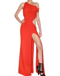 Versace Silk Cady Long Dress - Lyst