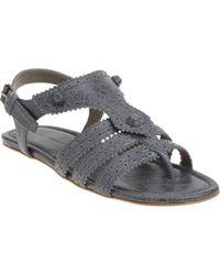 Balenciaga T-strap Thong Sandal - Lyst