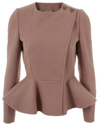 Stella McCartney Wool Blend Peplum Jacket - Lyst