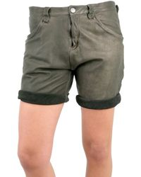 DROMe - Loose Fit Leather Shorts - Lyst