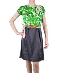Just In Case - Printed Silk Satin Dress - Lyst
