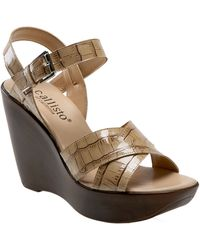 Callisto Jones Wedge Sandal - Lyst