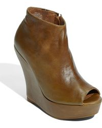 Jeffrey Campbell Tick Peep Toe Ankle Bootie - Lyst